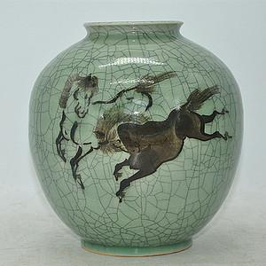 日本相马烧瓷瓶