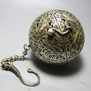 唐 老银打造 熏香球 手工制作 工艺考究 完美品
