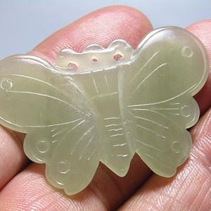 和田玉 蝴蝶 挂件 玉质极为熟润
