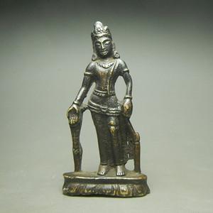 元代鎏金度母像随身佛