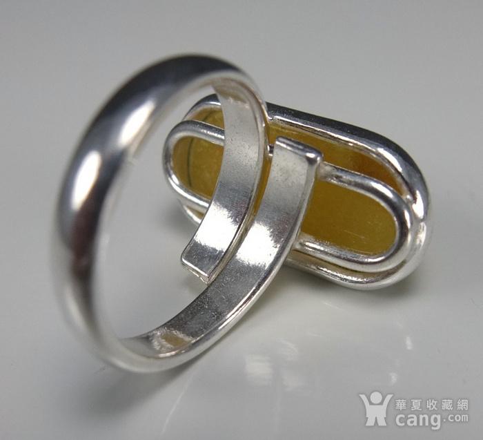 原矿925银镶嵌 波罗的海鸡油黄蜜蜡戒指图8