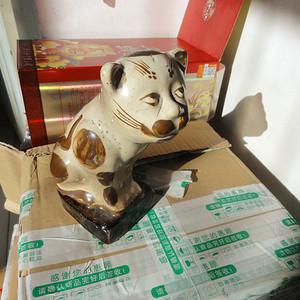 清民花猫摆件