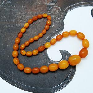 欧式 天然桶珠老密蜡项链v60c57