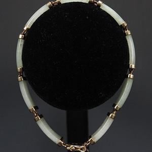 美国回925银镶嵌天然A翡翠 手链