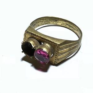 回流 红尖晶 宝石 戒指 单枚裸色 一克拉左右 宝石切割 火彩不错