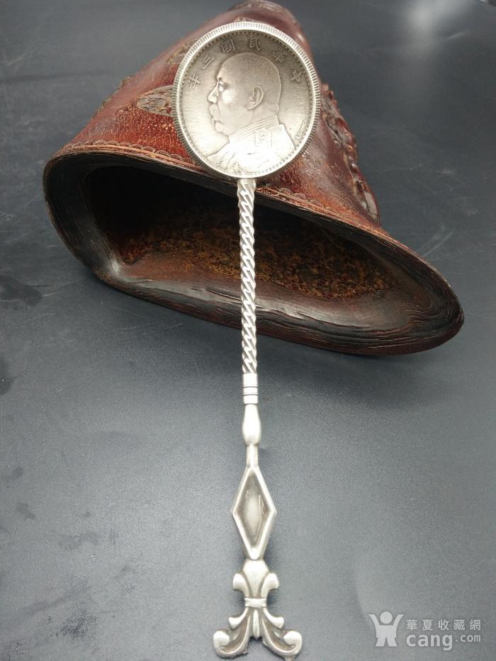 钱币银勺子图1