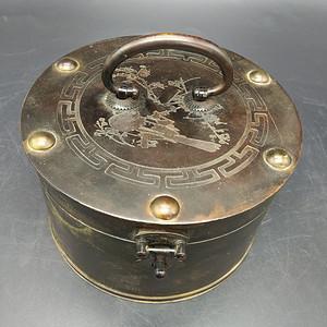 民国铜首饰盒