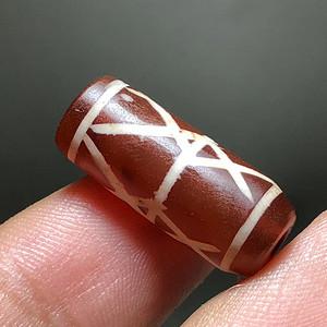 高古 西亚 镶蚀 红玉髓 管珠 手工 制作 纹理漂亮 包浆自然 手工