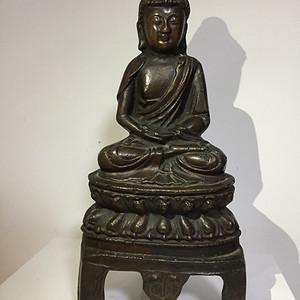 明代铜雕佛祖