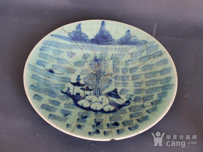 青花山水纹盘图2