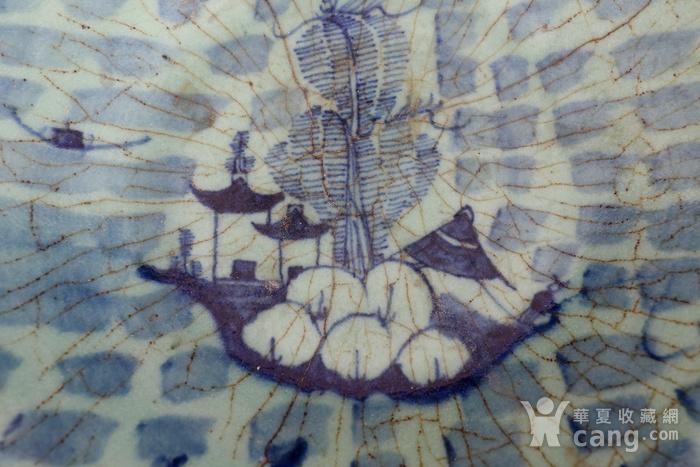 青花山水纹盘图4