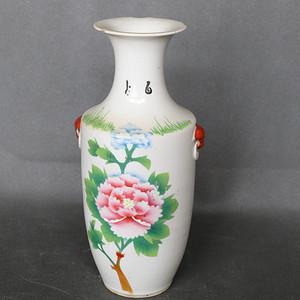 刷花牡丹花瓶