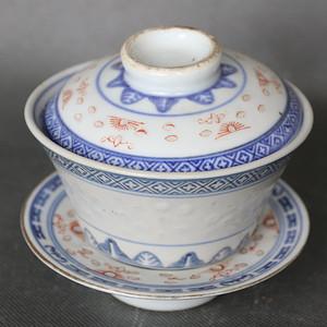玲珑瓷盖碗