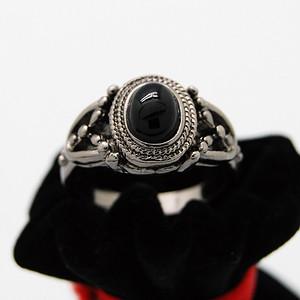 天然 黑玛瑙戒指