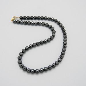 天然 赤铁矿项链黑珠子项链