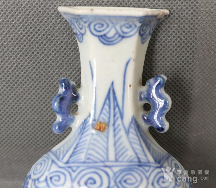 青花缠枝花壁瓶图4
