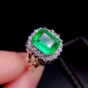 天然哥伦比亚祖母绿戒指假一赔万