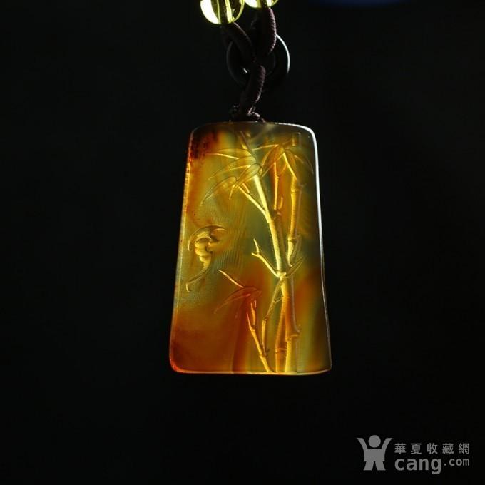 棕红缅甸琥珀祝福节节高升吊坠 69KE31图9