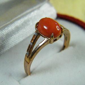 天然红珊瑚戒指2