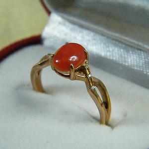 天然红珊瑚戒指3