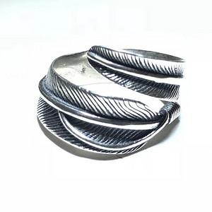 名家制作 日本高桥 纯银 羽毛戒指 工艺精湛 艺术感强 佩戴时尚 漂亮