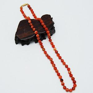 天然 红玛瑙长项链c37