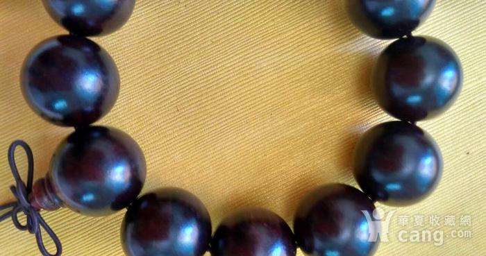 印度老料紫檀佛1.8珠手串图5