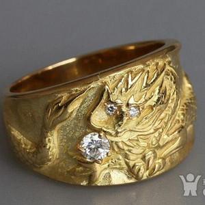 高端,18K实金,大龙戒指