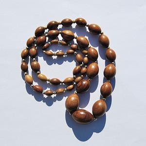 天然 欧式木枣珠项链c45