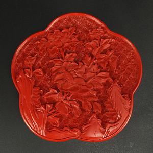国外回流精雕剔红漆器盒