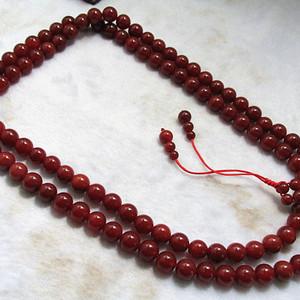 保真 民国时期 天然 凝血红 玛瑙 108粒 念珠挂链
