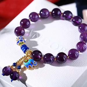 天然紫水晶手链假一赔万