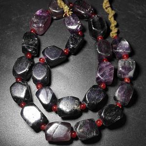 西亚紫晶老珠子