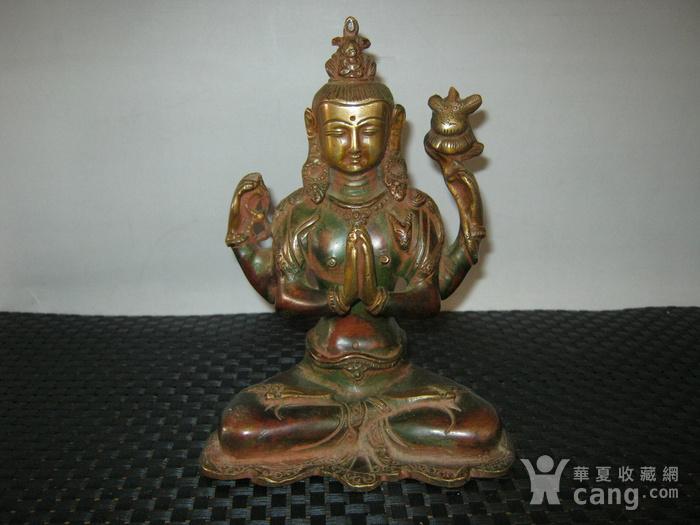 清代藏传铜佛图1