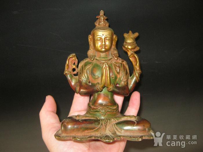 清代藏传铜佛图8
