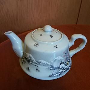 联盟 雪景山水茶壶
