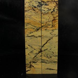 奇石收藏 天然山水画 结晶奇纹花坑大对章