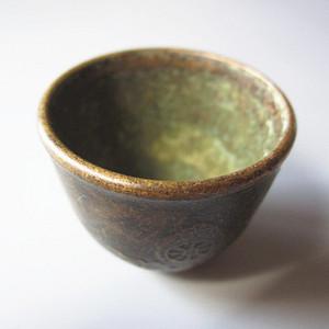民国时期 藏 铜质 酒器 大开门 31.8x35mm