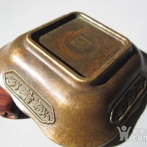 民国 藏传 福禄寿喜 铜制 碟 85x23mm