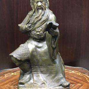 0116 民国 武财神关公铜造像