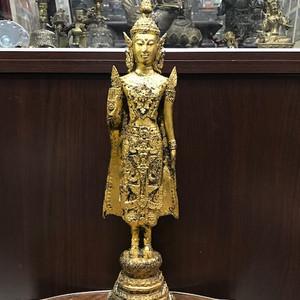 0118 十九世纪铜鎏金泰立佛