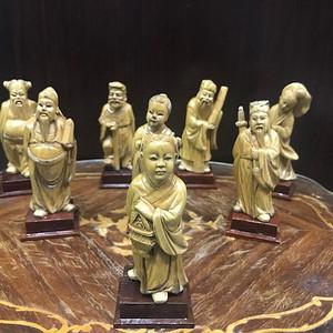 0120 民国黄杨木雕八仙