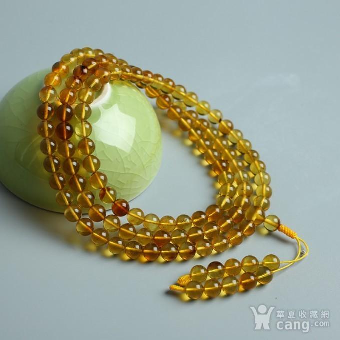 金棕缅甸琥珀108佛珠项链 6mm  24KH02图10