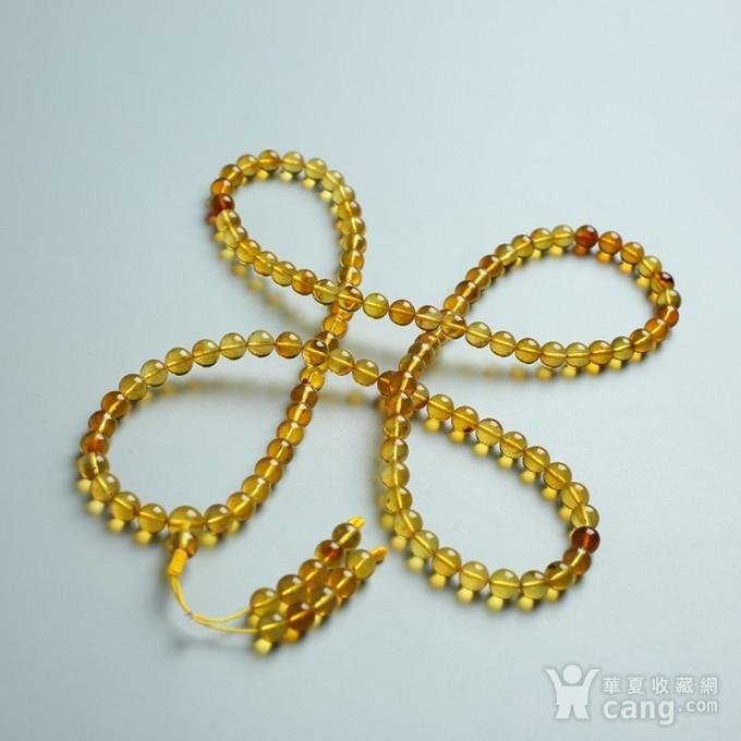 金棕缅甸琥珀108佛珠项链 6mm  24KH02图6