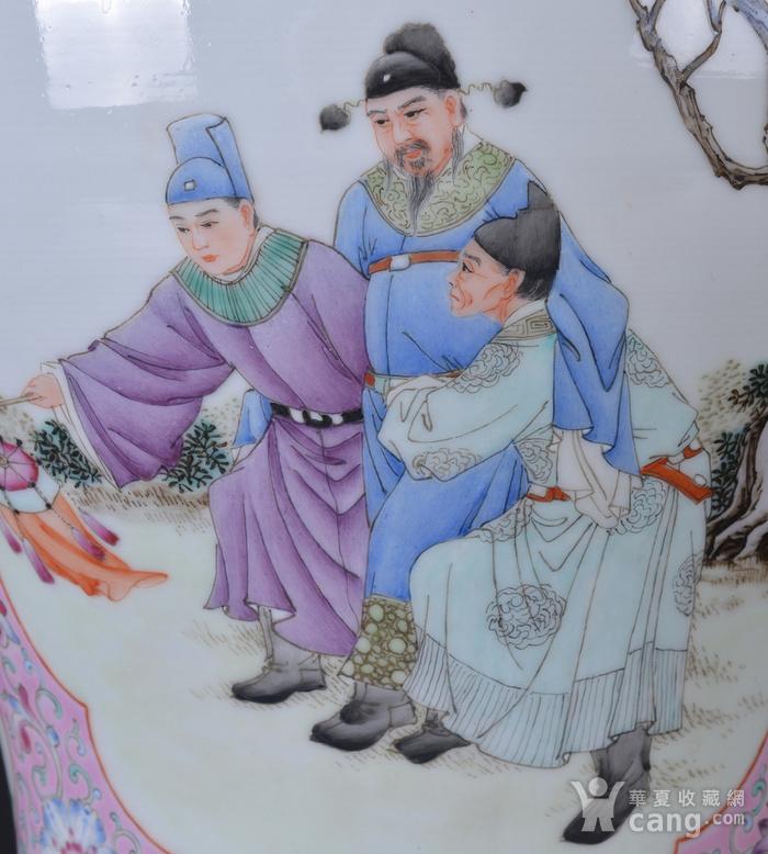 60年代 粉彩 李太白高力士 大将军罐图8
