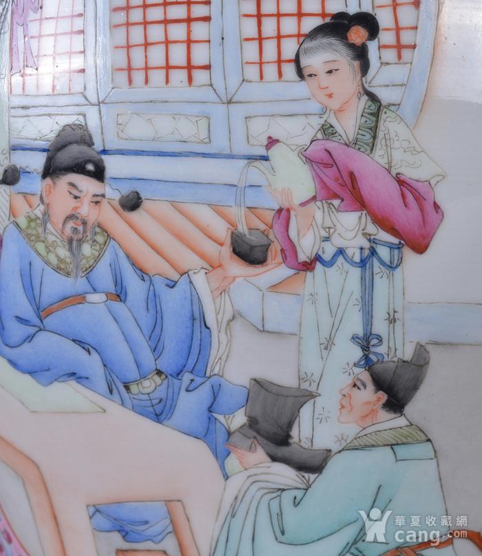 60年代 粉彩 李太白高力士 大将军罐图10