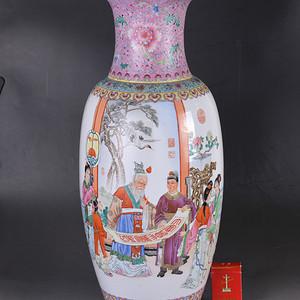 60年代 粉彩 富贵寿考 300件大瓶
