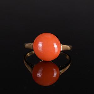 14K金 红珊瑚戒指
