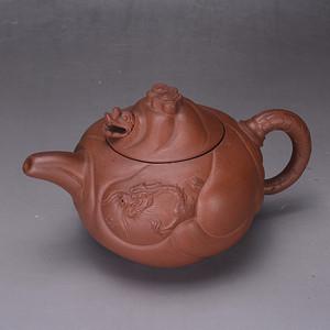 民国 鱼化龙 紫砂壶