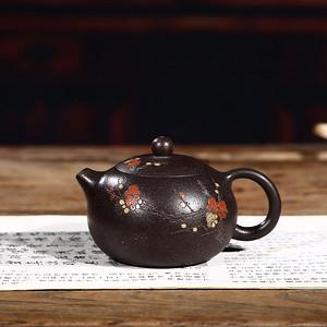 紫砂壶 黑金砂西施壶